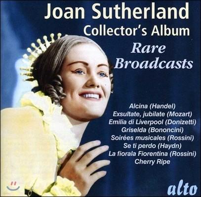 Joan Sutherland 조안 서덜랜드 콜렉터스 앨범 - 희귀 방송 녹음집: 헨델 / 모차르트 / 도니제티 / 로시니 외 (Collector's Album - Rare Broadcasts: Handel, Mozart, Donizetti, Rossini)
