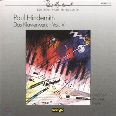 Paul Hindemith, Siegfried Mauser  (힌데미트, 마우저) - Hindemith: 힌데미트 피아노 작품 5집 (Das Klavierwerk, Vol. 5)