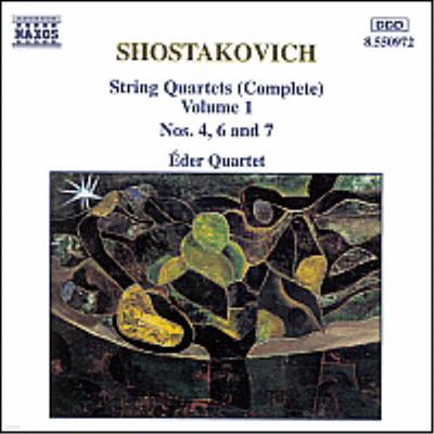 쇼스타코비치 : 현악 사중주 전곡 1집 - 4, 6, 7번 (Shostakovich : String Quartets, Vol. 1 - No.4 Op.83, No.6 Op.101, No.7 Op.108) - Eder Quartet