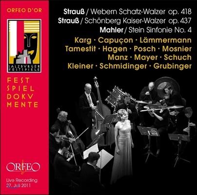 Renaud Capucon / Albrecht Mayer 말러: 교향곡 4번 - 에르빈 슈타인의 실내 앙상블 편곡 / 슈트라우스: 왈츠 (Mahler: Symphony No.4 / Strauss: Schatz-Walzer, Kaiser-Walzer)