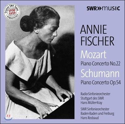 Annie Fischer 모차르트: 피아노 협주곡 22번 / 슈만: 피아노 협주곡 (Mozart: Piano Concerto K.482 / Schumann: Piano Concerto Op.54) 아니 피셔, 한스 로즈바우트, 한스 뮐러-크라이