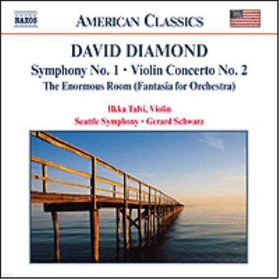 American Classics - 데이빗 다이아몬드 : 교향곡 1번, 바이올린 협주곡 2번 (David Diamond : Symphony No.1, Violin Concerto No.2, Enormous Room)(CD) - Gerard Schwarz