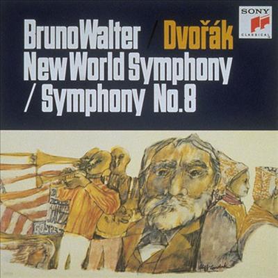 드보르작: 교향곡 8, 9번 '신세계' (Dvorak: Symphonies No.8 & No.9 'from The New World') (Ltd. Ed)(일본반) - Bruno Walter