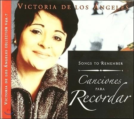 콜룸나 무지카 레이블의 빅토리아 데 로스 앙헬레스 콜렉션 7집 (Victoria De Los Angeles Collection Vol.7 - Songs to Remenber [Canciones para Recordar])