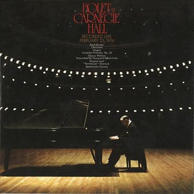 호르헤 볼레 - 카네기 홀 독주 리사이틀 (Jorge Bolet At Carnegie Hall 1974) (Ltd. Ed)(2CD)(일본반) - Jorge Bolet