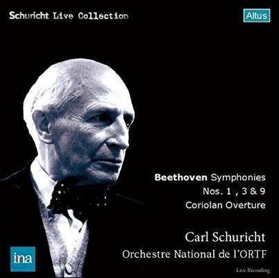 Carl Schuricht 베토벤: 교향곡 1, 3, 9번 '합창' & 코리올란 서곡 (Beethoven: Symphonies Nos. 1, 3 & 9 'Choral', Coriolan Overture) 카를 슈리히트, 프랑스 국립 라디오 오케스트라