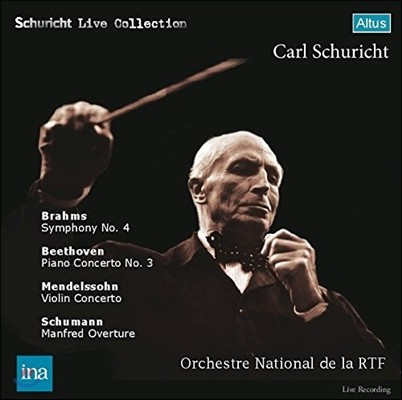 Carl Schuricht 브람스: 교향곡 4번 / 베토벤: 피아노 협주곡 3번 / 멘델스존: 바이올린 협주곡 / 슈만: 만프레드 서곡 (Brahms / Beethoven / Mendelssohn / Schumann) 카를 슈리히트