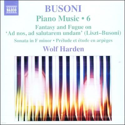 Wolf Harden 부조니: 피아노 작품 6집 (Busoni: Piano Music Vol.6 - Sonata Op.20, Prelude & Etude en Arpeges) 볼프 하덴