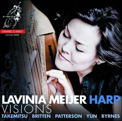Lavinia Meijer 20세기 작곡가들의 하프 작품집 - 브리튼 / 패터슨 / 윤이상 / 타케미츠 (Visions) 라비니아 마이어