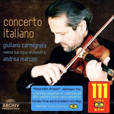 잊혀진 바로크의 이탈리아 협주곡 - 카르미뇰라, 마르콘