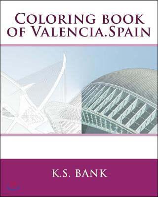 Coloring Book of Valencia, Spain