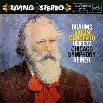 Jascha Heifetz 브람스: 바이올린 협주곡 - 야사 하이페츠 (Brahms Violin Concerto Op.77) [LP]