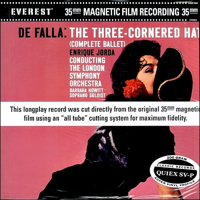 Enrique Jorda 파야: 발레음악 `삼각모자` (de Falla: Three Cornered Hat) [LP]