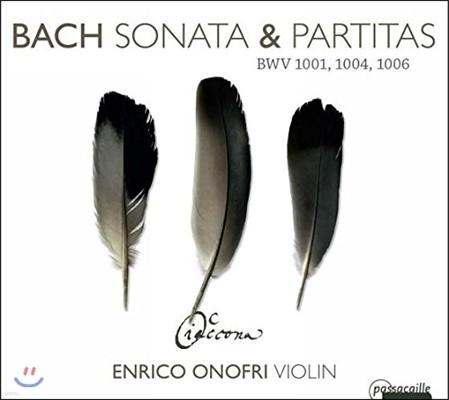 Enrico Onofri 바흐: 무반주 바이올린 소나타 1번, 파르티타 2-3번 (J.S. Bach: Sonatas & Partitas BWV1001, 1004 & 1006) 엔리코 오노프리