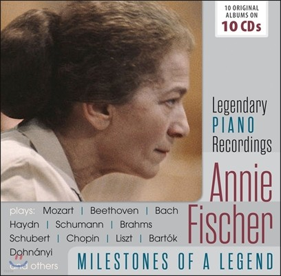 Annie Fischer 애니 피셔 - 전설의 마일스톤즈: 10 오리지널 앨범 (Milestones of a Legend - Legendary Piano Recordings: 10 Original Albums)