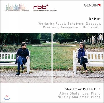 Shalamov Piano Duo 데뷔 - 라벨 / 슈베르트 / 드뷔시 / 힌데미트 / 타네예프: 피아노 이중주 작품 (Debut - Ravel, Schubert, Debussy, Cruixent, Taneyev and Hindemith) 샬라모프 피아노 듀오