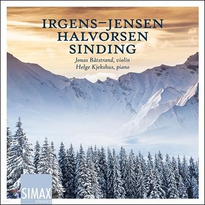 Jonas Batstrand 이르겐스-옌센: 바이올린 소나타 / 할보르센: 5개의 카프리치오 / 신딩: 무반주 바이올린 모음곡 (Irgens-Jensen / Halvorsen / Sinding: Chamber Works for Violin) 요나스 보츠트란트