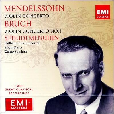 멘델스존 / 브루흐 : 바이올린 협주곡 - 메뉴힌, 쿠르츠, 자스킨트