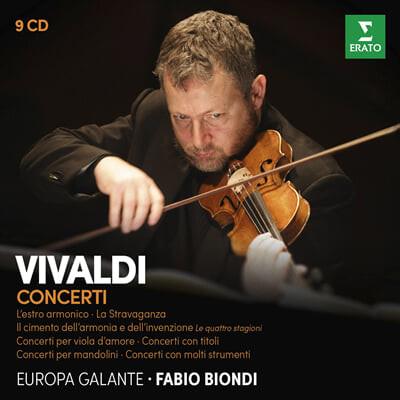 Fabio Biondi 비발디: 협주곡집 - 사계, 라 스트라바간자, 조화의 영감 (Vivaldi: Concertos - Four Seasons[Le Quattro Stagioni], L'Estro Armonico, La Stravaganza) 파비오 비온디, 유로파 갈란테