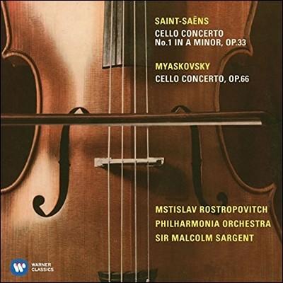 Mstislav Rostropovich 미아스코프스키 / 생상스: 첼로 협주곡 (Saint-Saens / Myaskovsky: Cello Concertos Op.33 & Op.66) 므스티슬라프 로스트로포비치