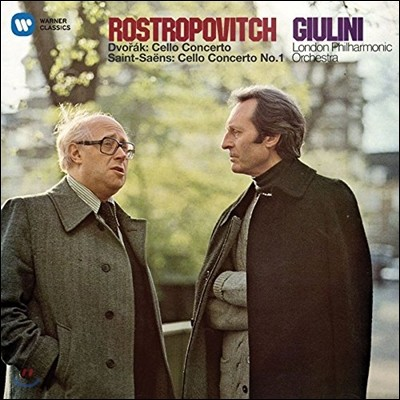Mstislav Rostropovich 드보르작 / 생상스: 첼로 협주곡 (Dvorak / Saint-Saens: Cello Concertos) 므스티슬라프 로스트로포비치, 카를로 마리아 줄리니