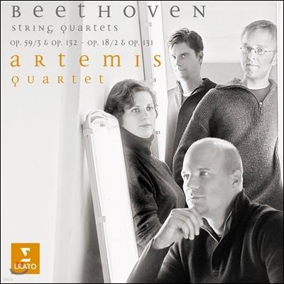 Artemis Quartet 베토벤: 현악 사중주 9, 14, 2, 14번 - 아르테미스 콰르텟 (Beethoven: String Quartets Opp.59/3 & 132, 18/2)