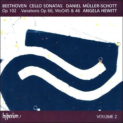 Daniel Muller-Schott / Angela Hewitt 베토벤 : 첼로 소나타, 변주곡 (Beethoven : Cello Sonatas Op.102, Variations) 안젤라 휴이트