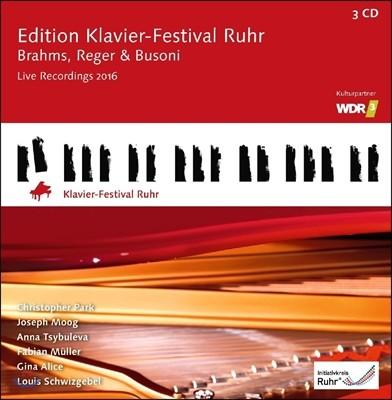 루르 피아노 페스티벌 35집 [2016년] 브람스 / 레거 / 부조니 (Ruhr Piano Festival Edition - Brahms, Reger & Busoni) 크리스토퍼 박, 요제프 무크, 안나 치불레바