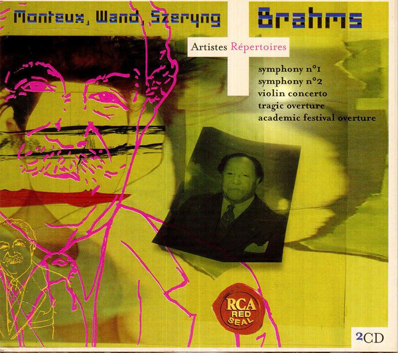 브람스 : 교향곡 1번ㆍ비극적 서곡 등 - 귄터 반트, 피에르 몽퇴, 헨릭 셰링 (2CD)