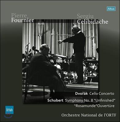 Sergiu Celibidache / Pierre Fournier 드보르작: 첼로 협주곡 / 슈베르트: 교향곡 8번 미완성 [LP]