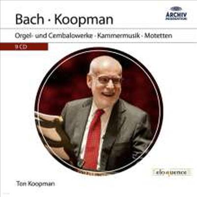 톤 코프만 - 바흐: 오르간, 하프시코드 협주곡, 실내악, 모테트 (Ton Koopman - Bach: Organ & Chamber Music, Harpsichord Concertos & Motets) (9CD Boxset) - Ton Koopman
