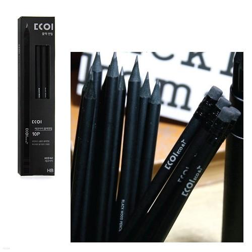 흑목연필 10본입 지함 HB
