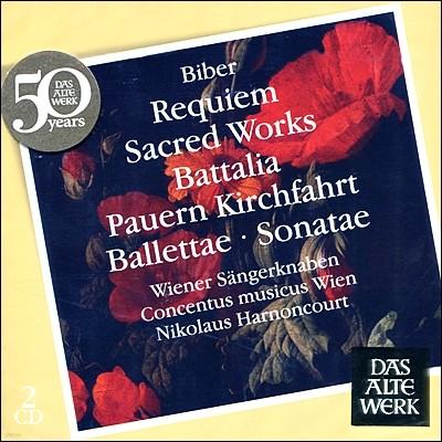 Nikolaus Harnoncourt 비버: 레퀴엠, 솔로 바이올린 소나타집 - 니콜라우스 아르농쿠르 (Heinrich Ignaz Franz von Biber: Requiem, Sonata)