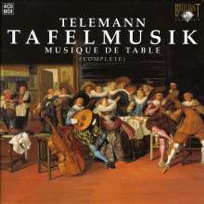 텔레만 : 식탁음악 전곡집 (Telemann : Tafelmusik) (4CD) - Pieter-Jan Belder