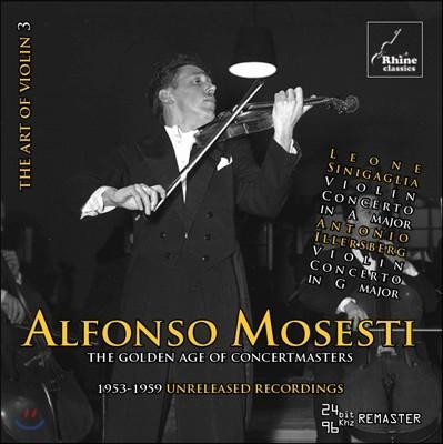 Alfonso Mosesti 알폰소 모제티 - 이탈리아의 바이올린 협주곡집: 시니갈리아 / 일러스베르크 (The Golden Age Of Concertamsters - Sinigaglia / Illersberg: Violin Concertos)