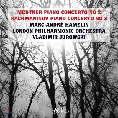Marc-Andre Hamelin 메트너: 피아노 협주곡 2번 / 라흐마니노프: 피아노 협주곡 3번 (Medtner: Piano Concerto Op.50 / Rachmaninov: Piano Concerto Op.30) 마크-앙드레 아믈랭, 런던 필하모닉, 유로프스키