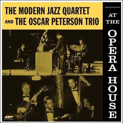 Modern Jazz Quartet / Oscar Peterson Trio - At The Opera House 모던 재즈 쿼텟 & 오스카 피터슨 트리오 시카코 오페라 하우스 라이브 [LP]