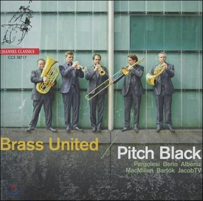 Brass United 피치 블랙 - 풀치넬라 모음곡 2.0 (Pitch Black - Pulcinella Suite 2.0: Pergolesi, Berio, Albeniz, Gallo, Wassenaer, Monza, Bartok, MacMillan) 브라스 유나이티드