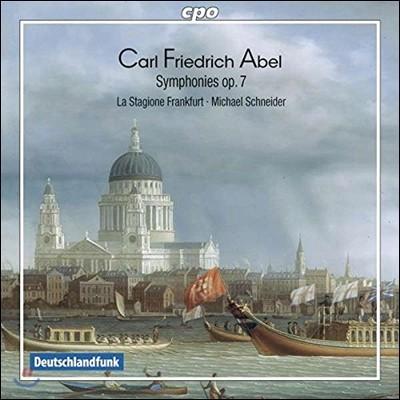 La Stagione Frankfurt / Michael Schneider 아벨: 6곡의 교향곡 Op.7 (Carl Friedrich Abel: 6 Symphonies Op.7) 미하엘 슈나이더, 라 스타지오네 프랑크푸르트