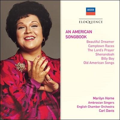 Marilyn Horne / Carl Davis 마릴린 혼 - 아메리카 송 북 (An American Songbook - Beautiful Dreamer, Camptown Races, The Lord's Prayer, Billy Boy, Old American Songs)