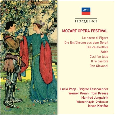Istvan Kertesz 모차르트 오페라 페스티벌 - 피가로의 결혼, 마술피리, 코지 판 투테, 돈 조반니 (Mozart Opera Festival - Le Nozze di Figaro, Die Zauberflote, Cosi fan Tutte, Don Giovanni) 이스트반 케르테스
