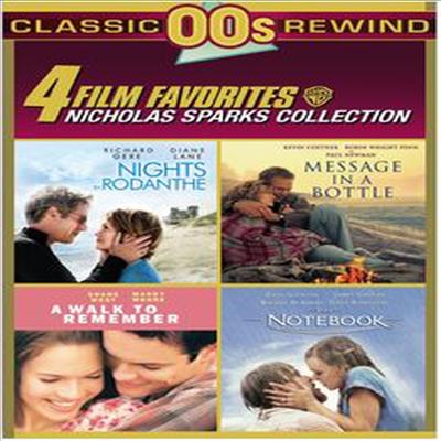 4 Film Favorites: Nicholas Sparks (Message in a Bottle, Nights in Rodanthe, The Notebook, A Walk to Remember) (니콜라스 스파크스 병 속에 담긴 편지/나이트 인 로댄스/노트북/워크 투 리멤버)(지역코드1)(한