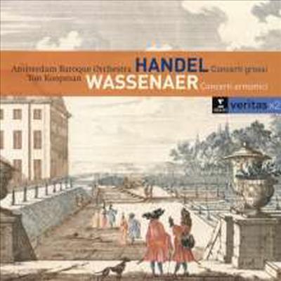바세나르: 합주협주곡 1-6번, 헨델: 합주 협주곡 작품 6-1, 2, 4,6번 (Pergolesi: Concerti armonici Nr.1-6 - tats.v.Wassenaer, Handel: Concerti Grossi Op.6 No.1, 2, 4 & 6) (2CD) - Ton Koopman