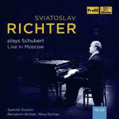 리히터가 연주하는 슈베르트 - 모스크바 실황 (Sviatoslav Richter plays Schubert - Live in Moscow 1949 - 1963) (10CD Boxset) - Sviatoslav Richter