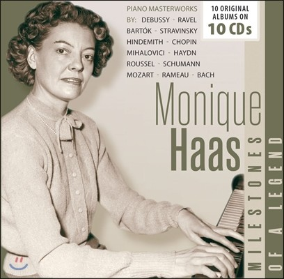 Monique Haas 모니크 아스 - 전설의 마일스톤즈: 10 오리지널 앨범 (Milestones of a Legend - Piano Masterworks: 10 Original Albums)