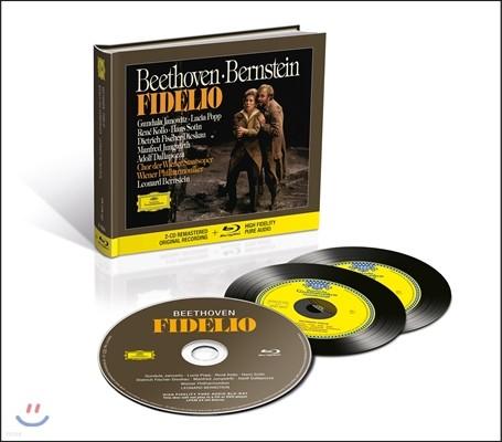 Leonard Bernstein / Lucia Popp 베토벤: 오페라 '피델리오' - 레너드 번스타인, 루치아 포프, 빈 필하모닉 (Beethoven: Fidelio)  [2CD+Blu-Ray Audio]