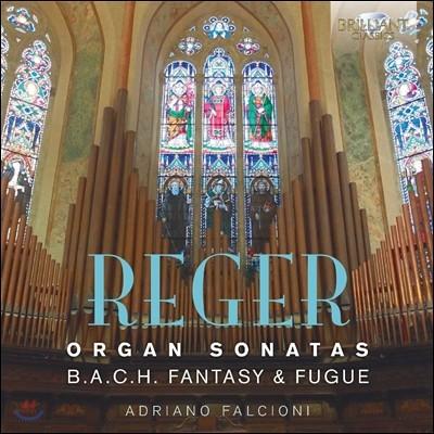 Adriano Falcioni 막스 레거: 오르간 소나타, 바흐 이름에 의한 환상곡과 푸가 (Max Reger: Organ Sonatas, B.A.C.H. Fantasy and Fugue Op.46) 아드리아노 팔치오니