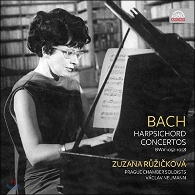 Zuzana Ruzickova 바흐: 하프시코드 협주곡 (J.S. Bach: Harpsichord Concertos BWV1052-1058) 주자나 루이지치코바, 바츨라프 노이만, 프라하 체임버 솔로이스츠