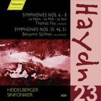 하이든: 교향곡 6-8번, 35, 46, 51번 (Haydn: Symphony No.6-8,35,46,51) (2CD) - Thomas Fey