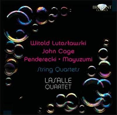 LaSalle Quartet 루토슬라브스키 / 펜데레츠키 / 존 케이지: 현악 사중주 (Witold Lutoslawski / John Cage / Krzysztof Penderecki / Toshiro Mayuzumi: String Quartets)
